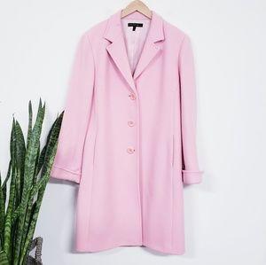Lafayette 148 New York Pink Wool Trench Coat